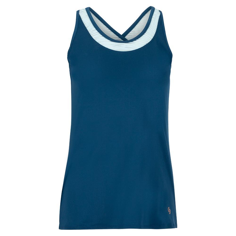 Women's Blue Abyss Tennis Tank Poseidon