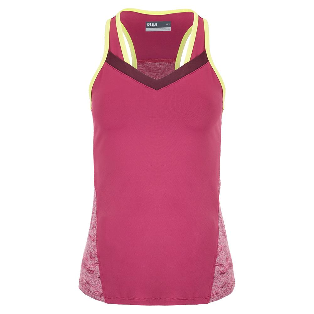 Women's Draw Tennis Tank Mulberry And Limeade