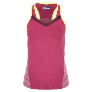 Women`s Draw Tennis Tank Mulberry and Limeade
