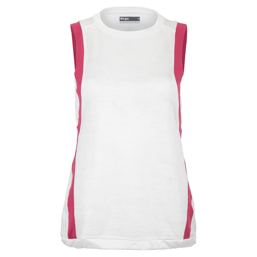 Women's Level Tennis Tank White And Mulberry