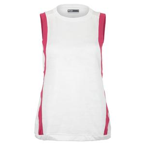 Women`s Level Tennis Tank White and Mulberry
