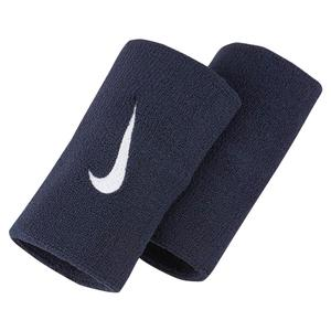 Premier Doublewide Tennis Wristbands Obsidian and White