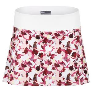 Women`s Arena Tennis Skort  Flora and White