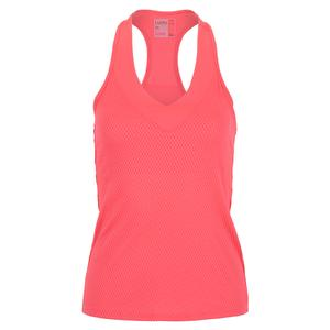 Women`s Wavy V-Neck Tennis Tank with Bra Punch