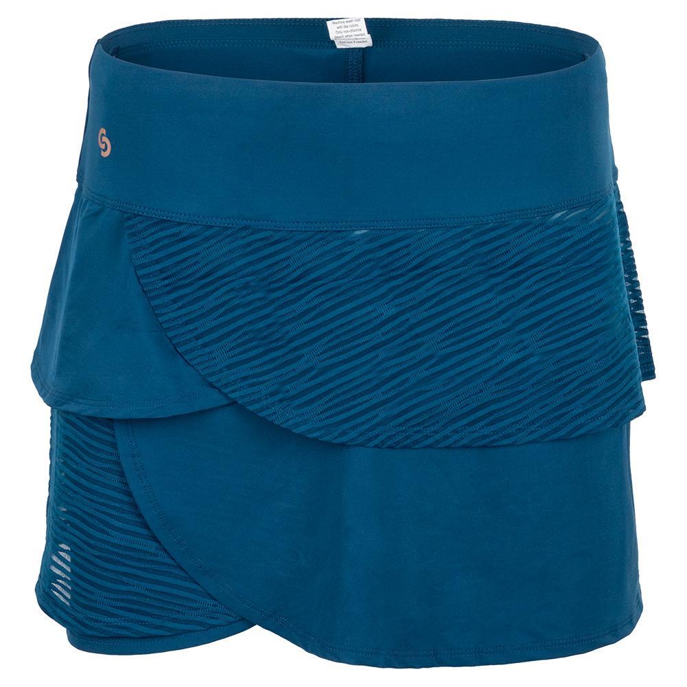 Women's Blue Abyss Tennis Skort Poseidon