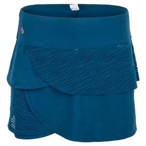 Women`s Blue Abyss Tennis Skort Poseidon