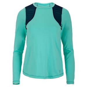 Women`s Long Sleeve Tennis Top Mint