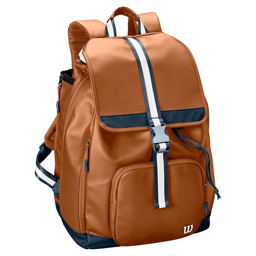 Women's Fold Over Tennis Backpack Brown