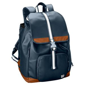 Women`s Fold Over Tennis Backpack Navy