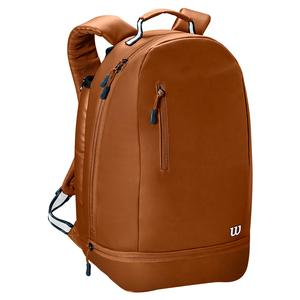 Women`s Minimalist Tennis Backpack Brown