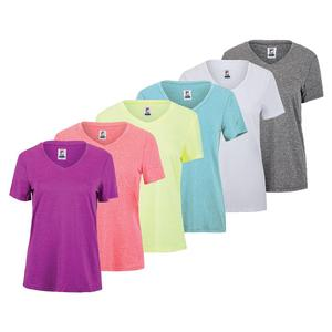 Women`s V-Neck Short Sleeve Pickleball Tee