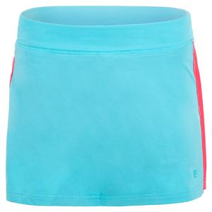 Women`s Tie Breaker 13.5 Inch Tennis Skort Maui Blue and Rouge Red