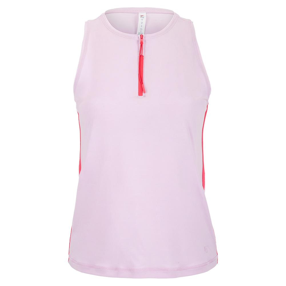 Women's Tie Breaker Full Coverage Tennis Tank Lavender Frost And Rose Smoke