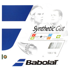 BABOLAT SYNTHETIC GUT 16G WHITE STRINGS