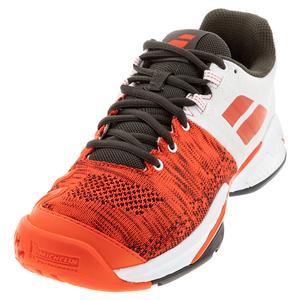 Men`s Propulse Blast All Court Tennis Shoes Cherry Tomato and White