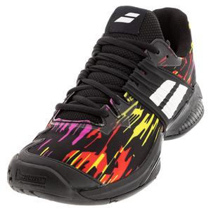 Men`s Propulse Fury All Court Tennis Shoes Black and White