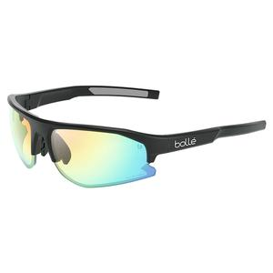 Bolt 2.0 Tennis Sunglasses Black Matte and Phantom Clear Green