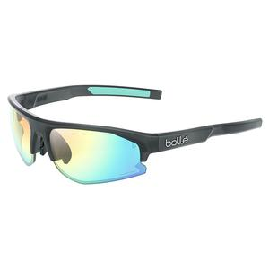 Bolt S 2.0 Tennis Sunglasses Black Crystal Matte and Phantom Clear Green