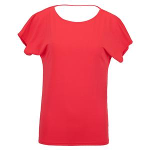 Women`s Spin Tennis Top Vibrant Red