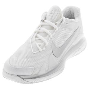 Women`s Air Zoom Vapor Pro Tennis Shoes White and Metallic Silver