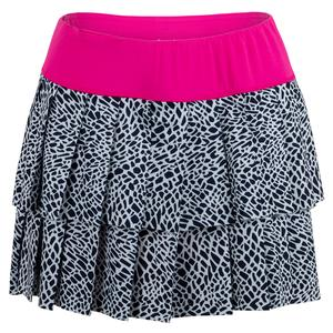 Women`s Layered Pleat Tennis Skort Crocodile Print