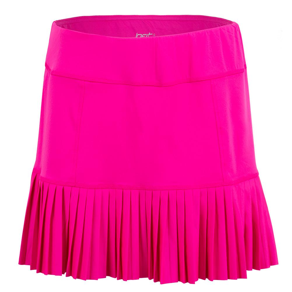 Women's Knife Pleat Tennis Skort Flourescent Pink