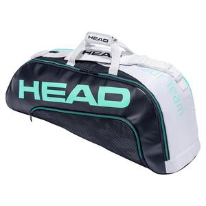 Tour Team 6R Combi Tennis Bag Navy and White