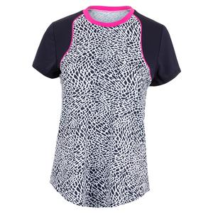 Women`s Flex Tennis Top Crocodile Print