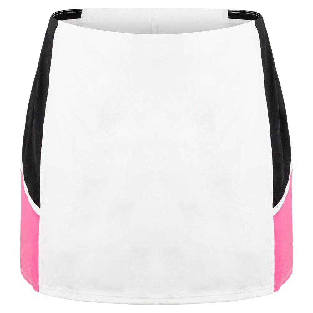 Women's Deandrea 14.5 Inch Tennis Skort Chalk And Sakura