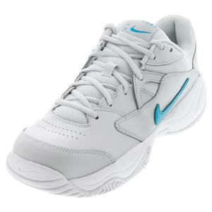 Men`s Court Lite 2 Tennis Shoes Photon Dust and Chlorine Blue