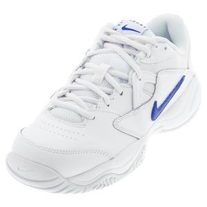 Men`s Court Lite 2 Tennis Shoes White and Hyper Royal