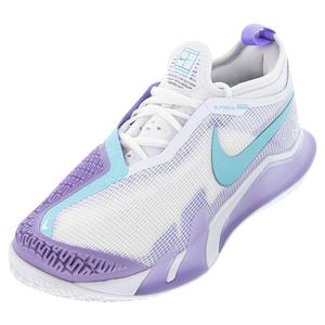 Women`s Court React Vapor NXT Tennis Shoes White and Copa