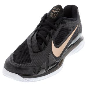 Women`s Air Zoom Vapor Pro Tennis Shoes Black and Metallic Red Bronze
