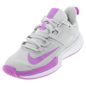 Women`s Vapor Lite Tennis Shoes Photon Dust and Fuchsia Glow