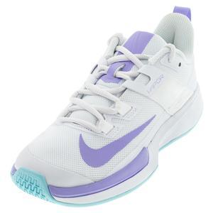 Women`s Vapor Lite Tennis Shoes White and Purple Pulse