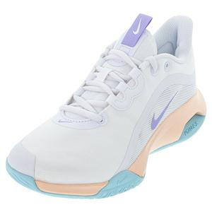 Women`s Court Air Max Volley Tennis Shoes White and Purple Pulse