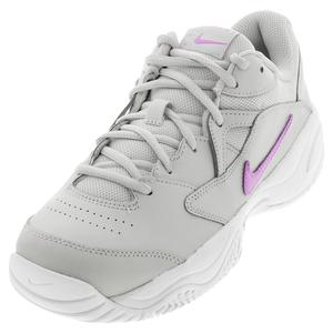 Women`s Court Lite 2 Tennis Shoes Photon Dust and Fuchsia Glow