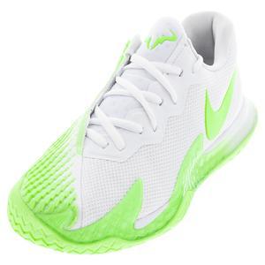 Men`s Rafa Zoom Vapor Cage 4 Tennis Shoes White and Lime Glow