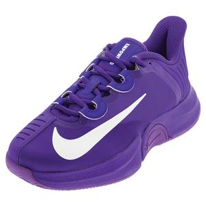 Women`s Naomi Osaka Court Air Zoom GP Turbo Tennis Shoes Fierce Purple and White