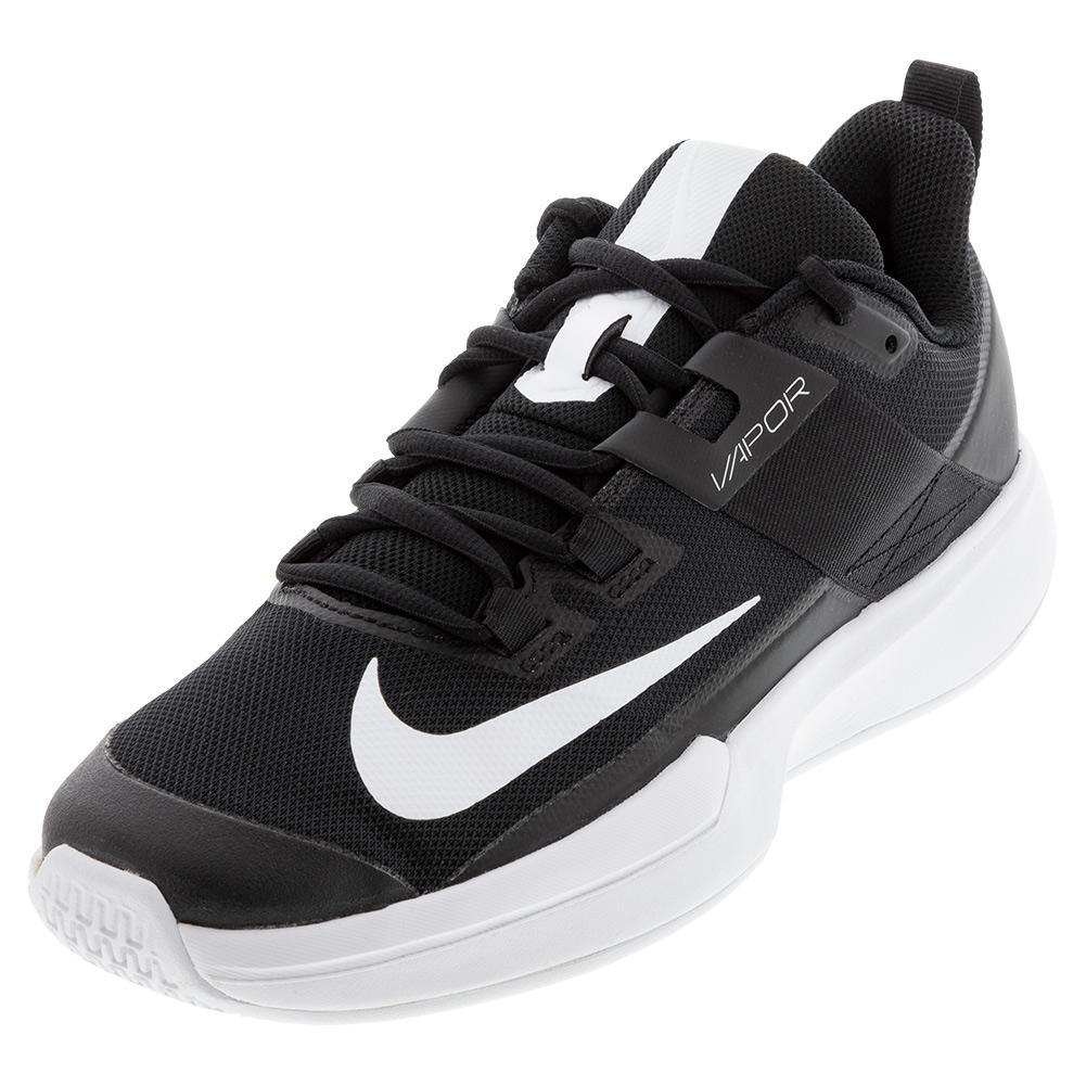 Men's Court Vapor Lite Tennis Shoes Black And White