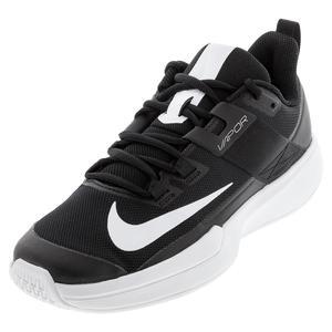 Men`s Court Vapor Lite Tennis Shoes Black and White