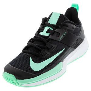 Men`s Vapor Lite Tennis Shoes Black and Green Glow