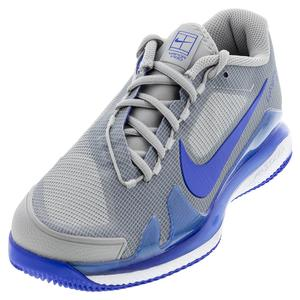 Men`s Air Zoom Vapor Pro Tennis Shoes Light Smoke Grey and Hyper Royal