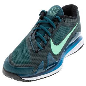Men`s Air Zoom Vapor Pro Tennis Shoes Dark Teal Green and Green Glow