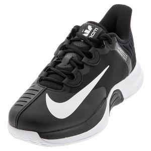 Men`s Court Air Zoom GP Turbo Tennis Shoes Black and White