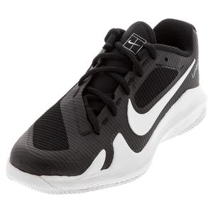 Juniors` Vapor Pro Tennis Shoes Black and White