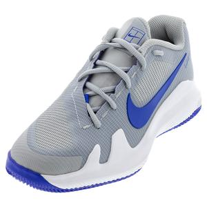 Juniors` Vapor Pro Tennis Shoes Light Smoke Grey and Hyper Royal