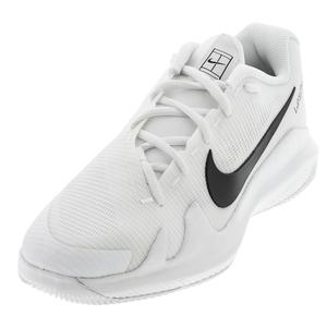 Juniors` Vapor Pro Tennis Shoes White and Black