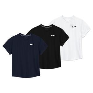 Boys` Court Dri-FIT Victory Short Sleeve Tennis Top