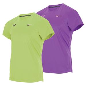 Men`s Rafa Court Dri -FIT Challenger Short Sleeve Tennis Top